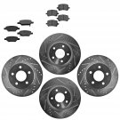New Nakamoto Brake Rotor & Pad Kit Metallic Performance Drilled Slotted Front & Rear