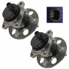 Wheel Bearing & Hub Assembly Pair Set of 2 LH & RH Rear for Toyota Yaris Prius C