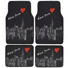 Complete New York Skyline Print Front and Rear Set Car Seat Covers and Mats