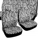 OEM Lightning Chevron Seat Covers for Car - 9 Piece Full Set w Auto Accessories