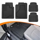 Weatherproof Rubber Floor Mats for Car Auto Motor Trend Odorless 4pc Front Rear