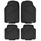Seat Cover for Car Rome Sport Racing Style Black Gray With Rubber FlexTough Mat