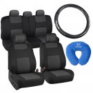 Car Seat Covers Honda Carbon Fiber Steering Wheel and Cover Neck Pillow