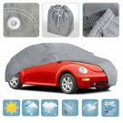 Medium Car Cover Waterproof All Weather Ding Protection Multi Layers Auto Cover