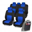 Original Car Seat Covers for Blue Race Rome Split Bench w Organizer Kick Mat