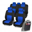 OEM Car Seat Covers Fit for Sedan SUV Blue Low Back Seat w Organizer Kick Mat