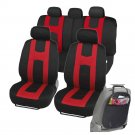Original Car Seat Covers for Auto Red Race Rome Split Bench Organizer Kick Mat