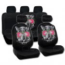Cool Hip Tiger Car Seat Cover Front Rear Full Set Auto Accessory Universal Fit