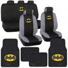 Officially Licensed Batman Seat Cover Car Floor Mat Full Front & Rear Set