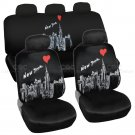 Car Seat Covers New York City Design Universal Fit Full Set Auto Accessory