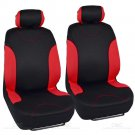 13pc Seat Covers & Floor Mats for Auto Black Red With Channeled Mats Bucatti