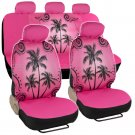 Wave Design Car Seat Covers Universal Fit Auto Accessories Steering Wheel Cover