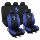 Premium 9 Piece Front and Rear Seat Cover Set Blue Dolphins Design Car