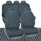 Scottsdale Cloth Seat Covers in Charcoal 7pc Highback