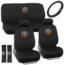 9 pc Peace Seat Cover and 4 PC Black All Weather Mats