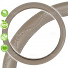 Beige Steering Wheel Cover Odorless BPA Free Durable Synthetic Leather