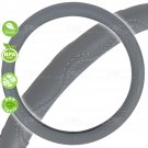 Gray Steering Wheel Cover Odorless BPA Free Durable Synthetic Leather