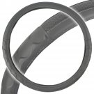 Original Rig Steering Wheel Cover for Tractor Trailer Gray Premium Syn Leather