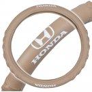 OEM Honda Steering Wheel Cover 13.514.5 Beige Odorless Synthetic Leather Grip