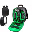 New Green Waterproof DSLR Backpack Case Bag For Canon Nikon Sony Camera Lens US