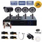 4CH 960H ONVIF HDMI CCTV DVR 900TVL Camera Home Security System Kits OB