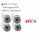 4PCS Wide angle 1300TVL HD 48 IR Home Dome Surveillance CCTV Security Camera OU