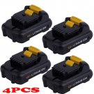 4x 12V VOLT 2000mAh 2.0AH Li-ion Battery Power for DeWalt DCB120 DCB121 DCD710
