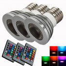 5PCS Change RGB LED Light Bulb Lamp 5W E27 Multi Color with Remote Control OY