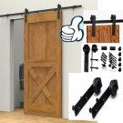 10FT Antique Style Sliding Barn Door Hardware Hanger Roller Track indoor Kit OY
