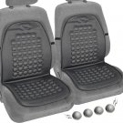 Pair of Magnetic Bubble Seat Cushions Massage Therapy Beads Car Auto Home Gray