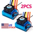 2X120A Sensored Brushless Speed Controller ESC for 1/8 1/10 1/12 Car US Stock Y