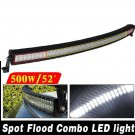 52 inch Curved 500W Combo Spot Flood LED Work Light Bar 4WD SUV UTE Boat Jeep US