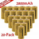 20pcs 16340 Batteries CR123A LR123A 3.7V 2800mAh Rechargeable Li-Ion Battery OY