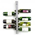 Stainless Steel8 12Hole Bottle Wall Mounted Kitchen Bar Wine Rack Holder StandOY