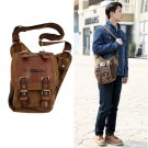 Men's Vintage Canvas Leather Messenger Shoulder Bag Military Travel Satchel