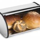 Stainless Steel Bread Box Storage Bin Keeper Food Container Kitchen 34 21 15cm Y