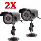 2X 1200TVL Home CCTV Surveillance Camera Waterproof Outdoor IR Night Vision OY