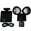 2Pack 22LED Motion Sensor Solar Powered Security Spotlight Outdoor Flood Light H