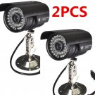 2X 1200TVL HD Home CCTV Surveillance Camera Waterproof Outdoor IR Night Vision Y