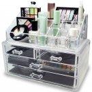 Acrylic Jewelry Display Holder Drawer Box Storage Makeup Cosmetic Organizer GOY
