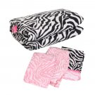 Zebra Pattern 4 Piece Infants Baby Crib Bedding Set Quilt Sheet Dust Ruffle OY