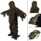 Ghillie Suit XL XXL Camo Woodland Camouflage Forest Hunting 4 Piece Bag