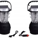 3Modes Hand Crank Dynamo Solar 36LED Bright Lantern Outdoor Camping Work Light Y