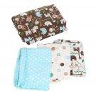 Elephant Animals Soft 4 Piece Baby Crib Bedding Set Quilt Sheet Dust Ruffle OY