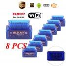 8PCS Mini ELM327 V2.1 OBD2 OBDII Bluetooth Adapter Auto Scanner TORQUE ANDROID B