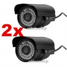 2 X 1200TVL HD Outdoor CCTV Surveillance Security Camera 36IR Day Night Video UY