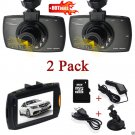 2x Full HD 1080P 2.7 Car DVR Recorder CCTV Dash Camera G-sensor Night Vision US