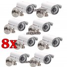 8PCS 1200TVL CMOS HD 36 IR Waterproof CCTV Surveillance Camera IR Cut System OY