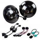 2pcs 7 inch Round 40W LED Projector Headlights For Jeep Wrangler JK TJ LJ CJ