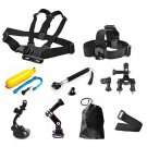 Head Chest Mount Floating Monopod Pole Accessories Kit For GoPro 1 2 3 4s Camera